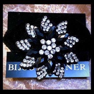 NWT Bijoux Terner Black Velvet Hair Scrunchie